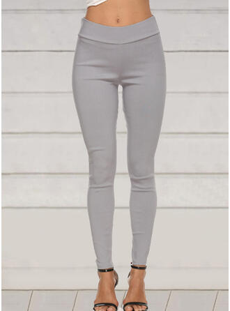 Solid Plus Size Long Elegant Sexy Pants Leggings