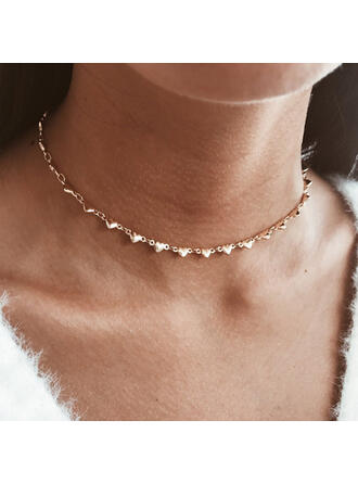 Simple Hottest Alloy With Heart Necklaces