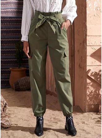 Pockets Bowknot Long Casual Tribal Pants