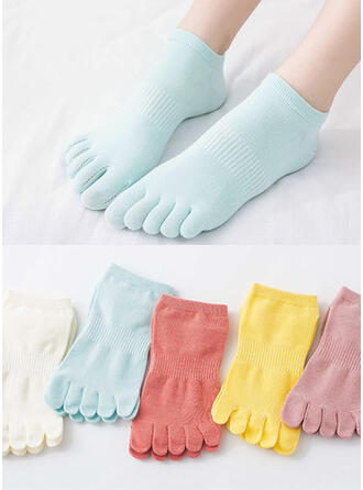 Solid Color/Colorful Breathable/Comfortable/Toe/Ankle Socks Socks (Set of 5 pairs)