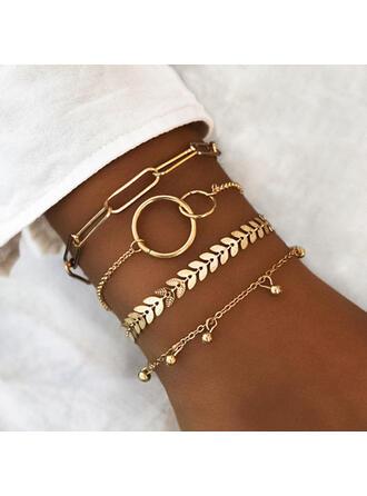 Unique Exquisite Stylish Alloy Jewelry Sets Bracelets Beach Jewelry (Set of 4 pairs)