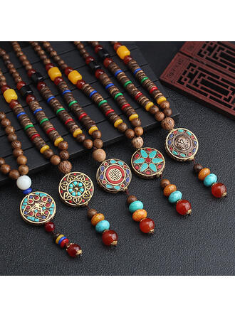 Unique Beautiful Fashionable Ceramic With Resin Necklaces