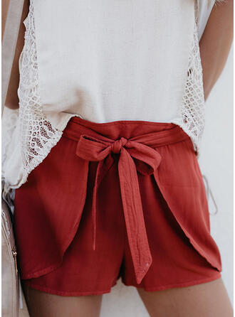 Solid Casual Shorts