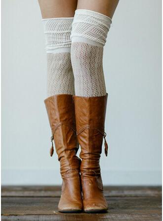 Solid Color/Stitching Warm/Comfortable/Knee-High Socks Socks/Stockings