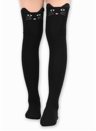 Animal Black Cat Socks