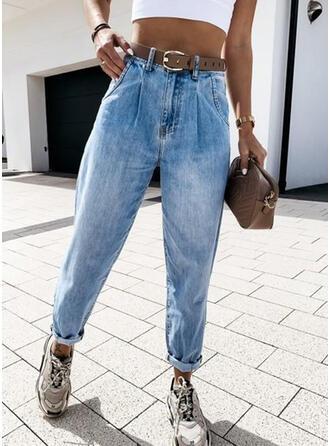 Solid Long Casual Long Pants