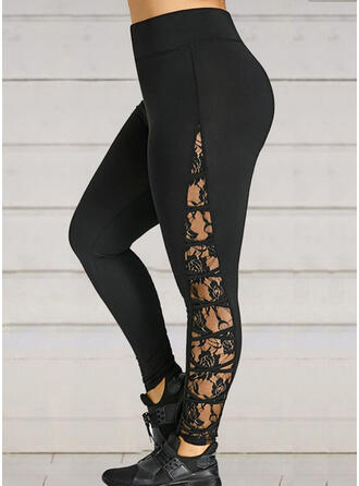 Lace Patchwork Long Sexy Sporty Yoga Leggings