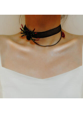 Halloween Spider Gothic Alloy Lace Necklaces