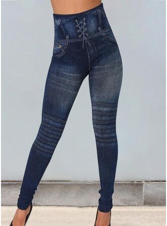 Print Shirred Plus Size Long Sexy Skinny Yoga Leggings