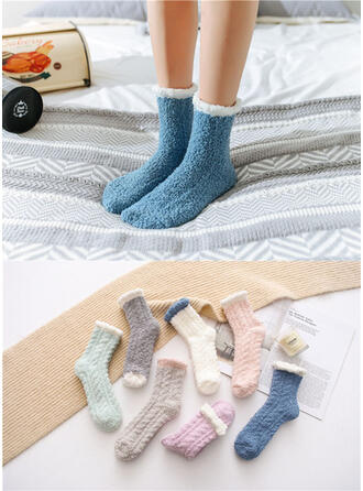 Solid Color/Stitching Warm/Comfortable/Crew Socks Socks