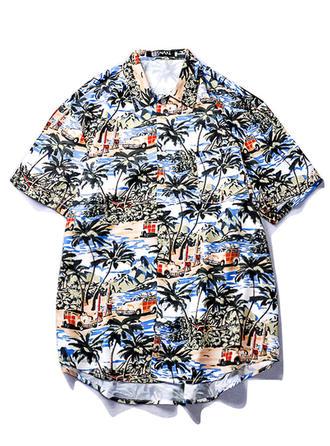 Men's Print Hawaiian Beach Shirts