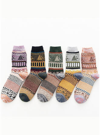 Floral/Bohemia/Colorful Comfortable/Crew Socks Socks (Set of 5 pairs)