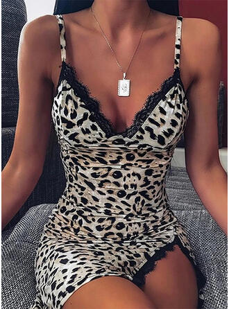 Lace/Leopard Sleeveless Bodycon Above Knee Sexy/Casual/Party Dresses