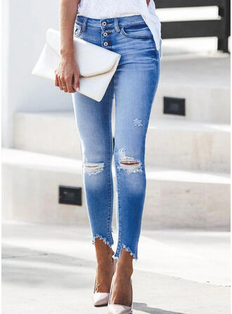 Ripped Tassel Elegant Sexy Denim & Jeans