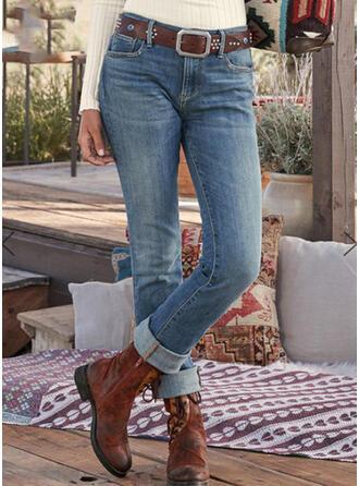 Shirred Plus Size Tribal Vintage Denim & Jeans