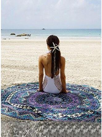 Retro/Vintage/Tassel/Bohemia Light Weight/round/Multi-functional/Sand Free/Quick Dry Beach Towel