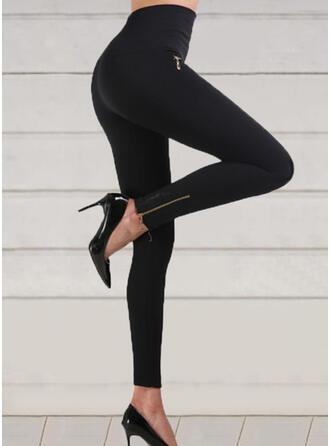 Solid Shirred Long Sexy Skinny Yoga Leggings
