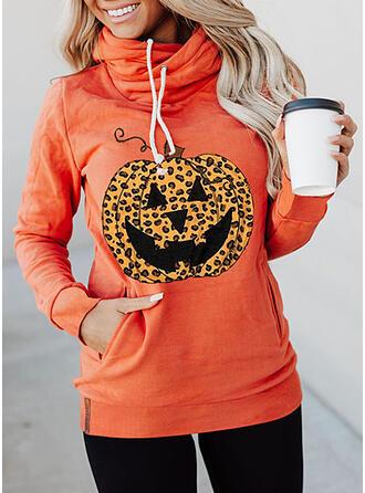 Leopard Halloween Long Sleeves Hoodie