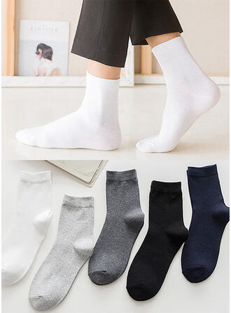Solid Color Breathable/Comfortable/Crew Socks Socks (Set of 5 pairs)
