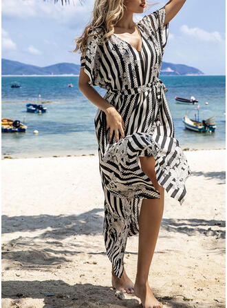 Stripe Sexy Boho Cover-ups Swimsuits
