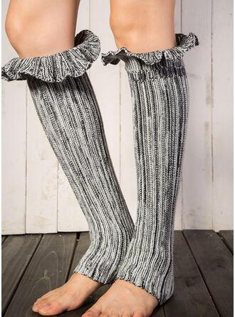 Striped/Solid Color Comfortable/Leg Warmers/Boot Cuff Socks Socks