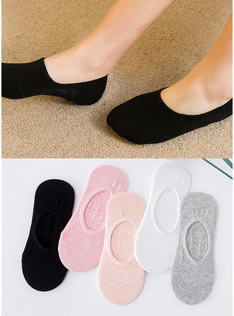 Solid Color Breathable/No Show Socks Socks (Set of 5 pairs)