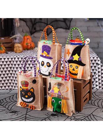 Cute Halloween Ghost Pumpkin Linen Halloween Props Candy Bags