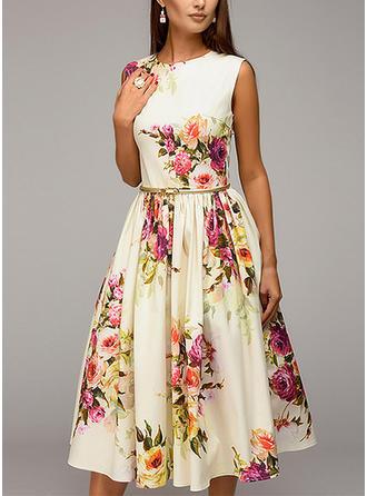 Floral Sleeveless A-line Knee Length Vintage/Party/Elegant/Boho/Vacation Dresses