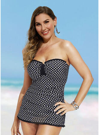 Dot Detachable Sexy Vintage Swimdresses Swimsuits