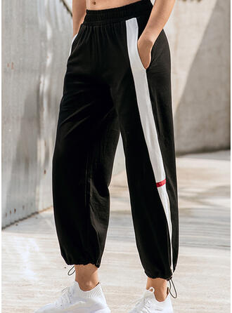 Shirred Drawstring Cropped Casual Sporty Pants